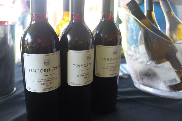 Wine samples from Canada's first carbon-neutral winery Tinhorn Creek Vineyards.