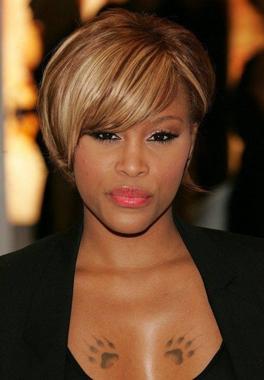 Trendy African American Short Straight Haircut - Celebrity Eve's ...
