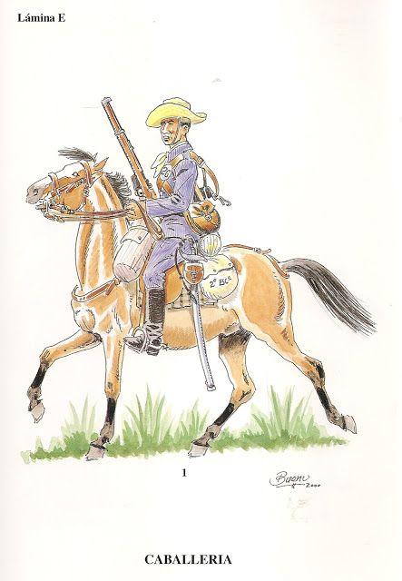 soldados españoles en Cuba (época colonial). Caballeria