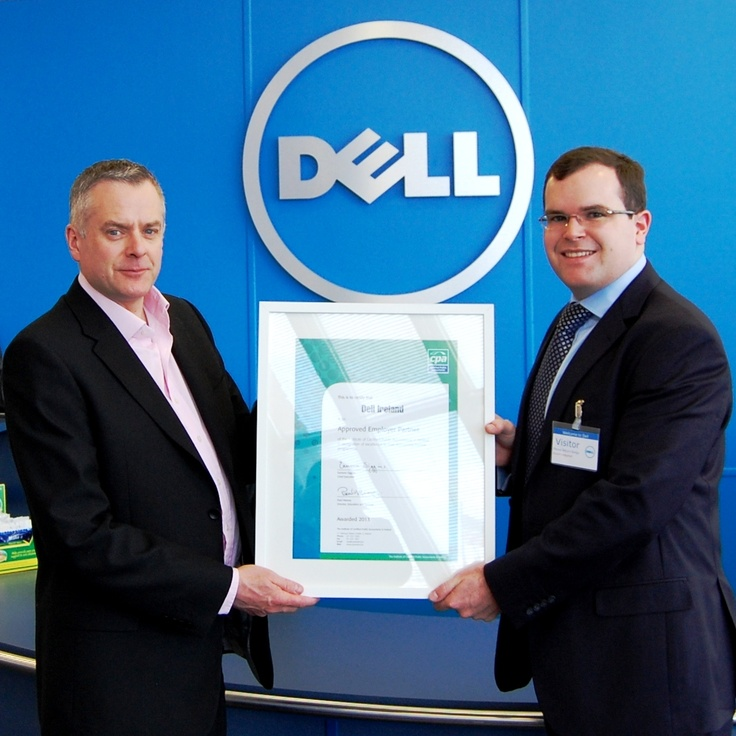 Finance Director and CPA Mark Condon is pictured here receiving the AEP Certificate from Cathal McNamara, Business Relationship Manager, CPA Ireland.
