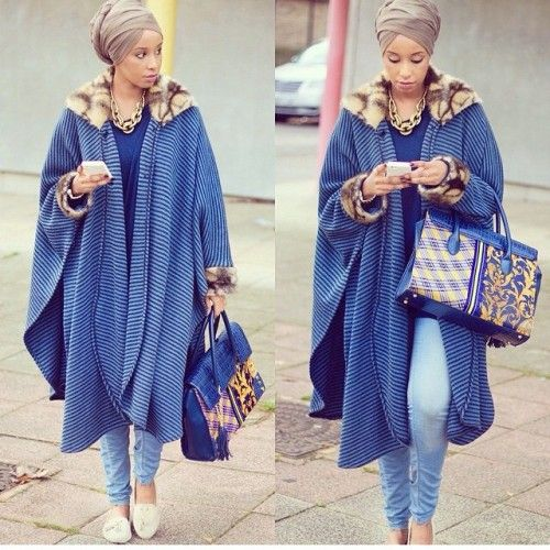 blanket hijab poncho, Hijab trends from the street http://www.justtrendygirls.com/hijab-trends-from-the-street/