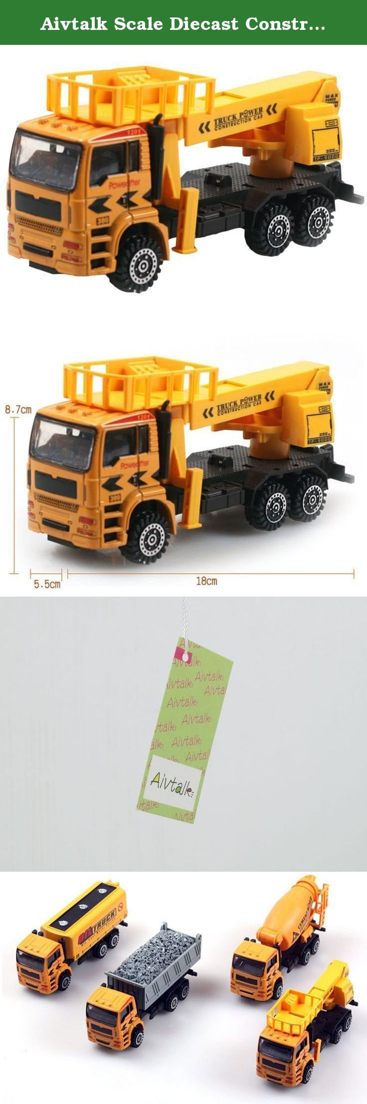 Aivtalk Scale Diecast Construction Vehicle Transport Car Carrier Truck Toy Model Cars for Boys. Features: Super cool gift for kids Completely non-toxic, safe for children Designed with realistic features in a smaller scale Specifications: Material: Metal & Plastic Scale:1:50 For Ages: 3 years and up Dimensions: approx. 18*8.7*5.5cm Color:As picture Package includes: 1 * Toy truck.