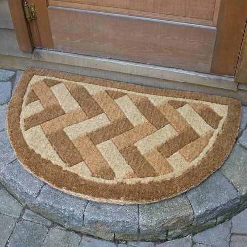 Brick Weave Half Round Coir Mat   Door Mats And Welcome Rugs   Outdoor