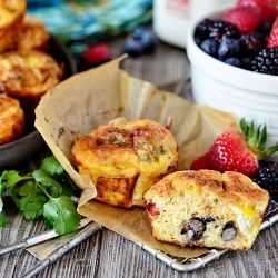 Southwest Baked Egg Cups packed with protein for a filling breakfast