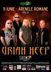 URIAH HEEP, una dintre cele mai populare trupe de hard rock de la inceputul anilor 70, revine pe 11 iuniein Romania intr-un concert incendiar ce va avea loc la Arenele Romane cu incepere de la orele 20:00.