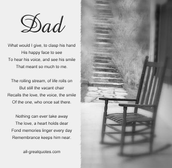 In Memory Dad Parent Daddy: Dad What Would I Give To Clasp His Hand His Happy Face To