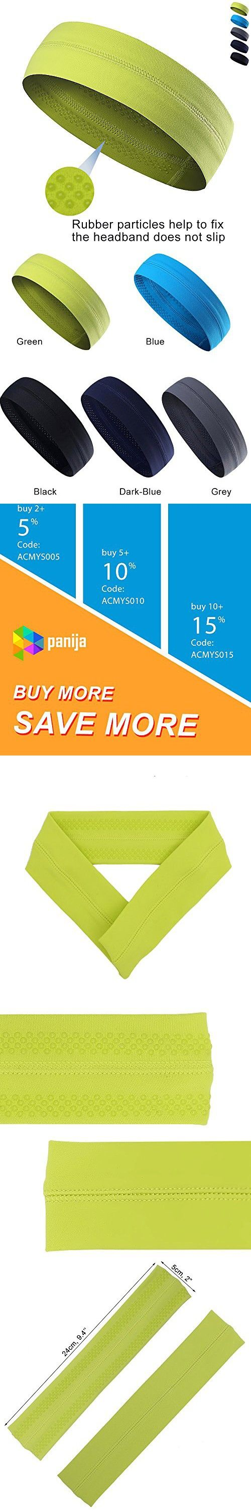 Cooling Headband That Can Absorb Sweat And Which Has A Very High Elasticity, Very Useful for Fitness, Gym, Yoga, Great For Women And Men (Green)