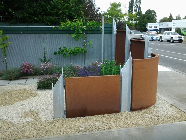 My Corten Garden Fence 2