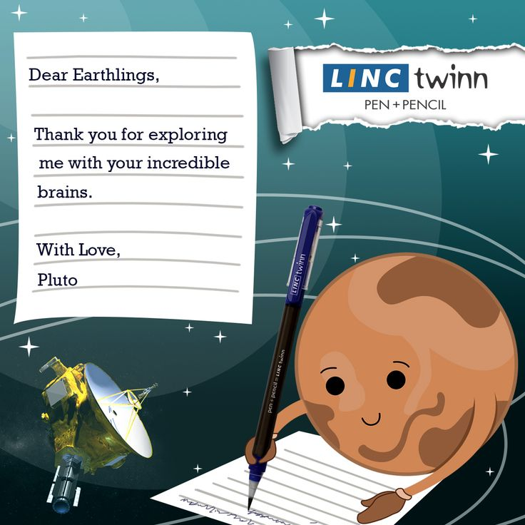 A letter to the earthlings from Pluto! #Pluto #Planet  #PlutoFly #LincPens #Pens #LincTwinn