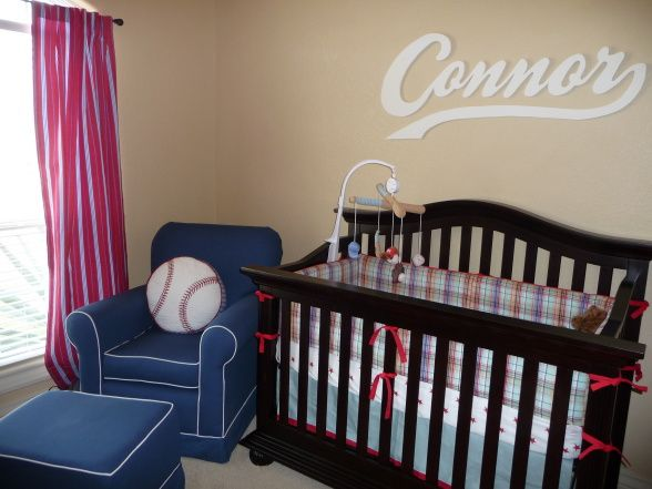 Baseball Nursery I Work In And Wanted My Little Boy To Have An With Baby Room Sports Theme