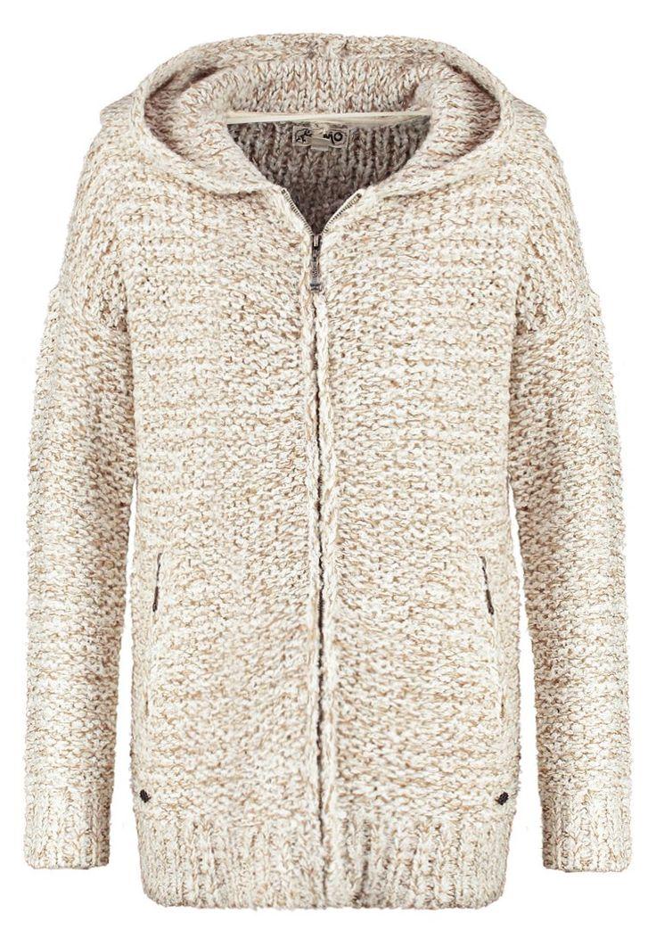 myMo Kardigan wollweiss sand 549.00zł #kobieta #women #moda #fashion #mymo #kardigan #wollweiss #sand #damski #sweter #rozpinany #kaptur