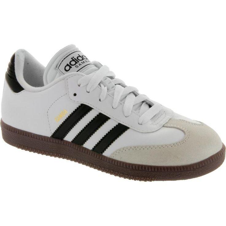 adidas Samba Classic White Junior: adidas Junior Soccer Shoes