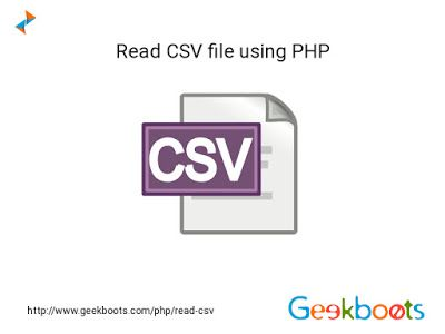 using php its easy to readcsv files in case of csv file fgetcsv