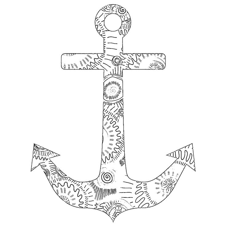 Adult Coloring Pages Anchor 3 Coloring pages, Dolphin