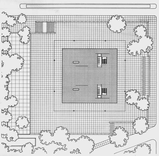 Plans of Architecture (Mies van der Rohe, Neue Nationalgalerie, 1968,...)