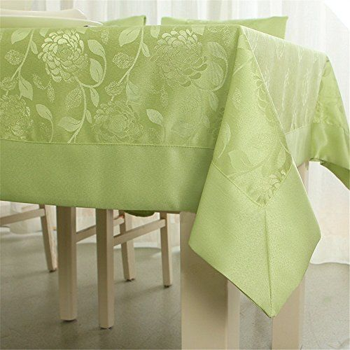 SNW Modern Simplicity Pastoral Style Green Nano Waterproof Tablecloth  Rectangle Tablecloth For Wedding Shopping New World