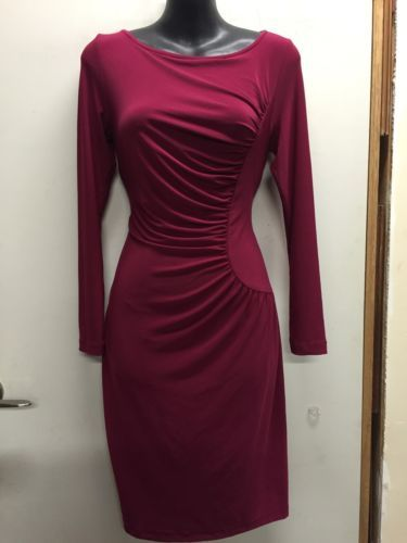 Flattering-Rouged-Plum-Jersey-LEONA-EDMISTON-Frocks-Womens-Dress-1-M-10-12