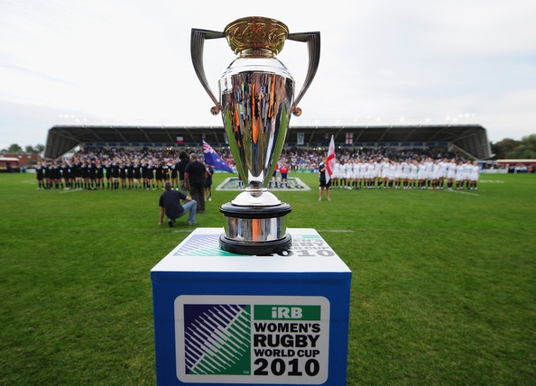Final Women's Rugby World Cup 2010 in England between Roses and the Black Ferns.