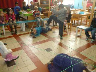 Hartelijk welkom in de 3de kleuter'WONDER'klas !: thema 'Touwen & linten'