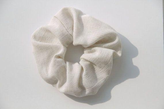 Natural and Simple Minimalist Hair Scrunchie by KHandmadeHK, $9.00