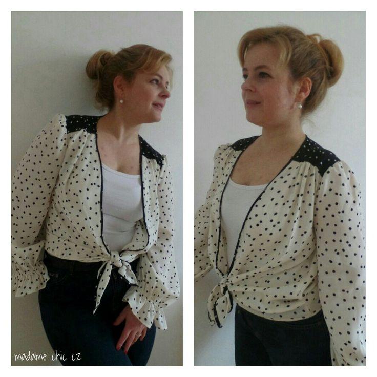 DYI polka dot B/W blouse