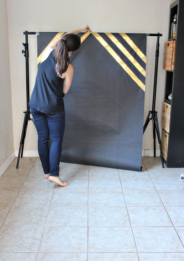 DIY Graduation Photobooth- black & purple