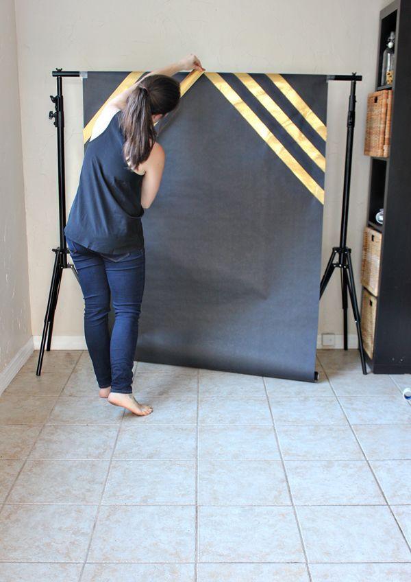 DIY Graduation Photobooth- black & purple