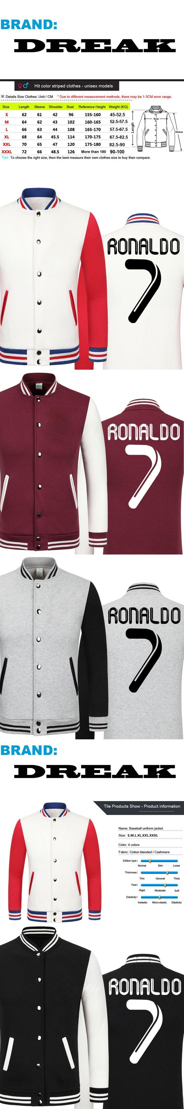 2016 World Cup Cristiano Ronaldo thick velvet baseball uniform men's Jackets camiseta youth jackets barcelonae kids tracksuit