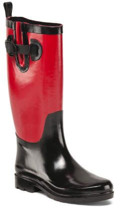 Red and Black Rain Boots