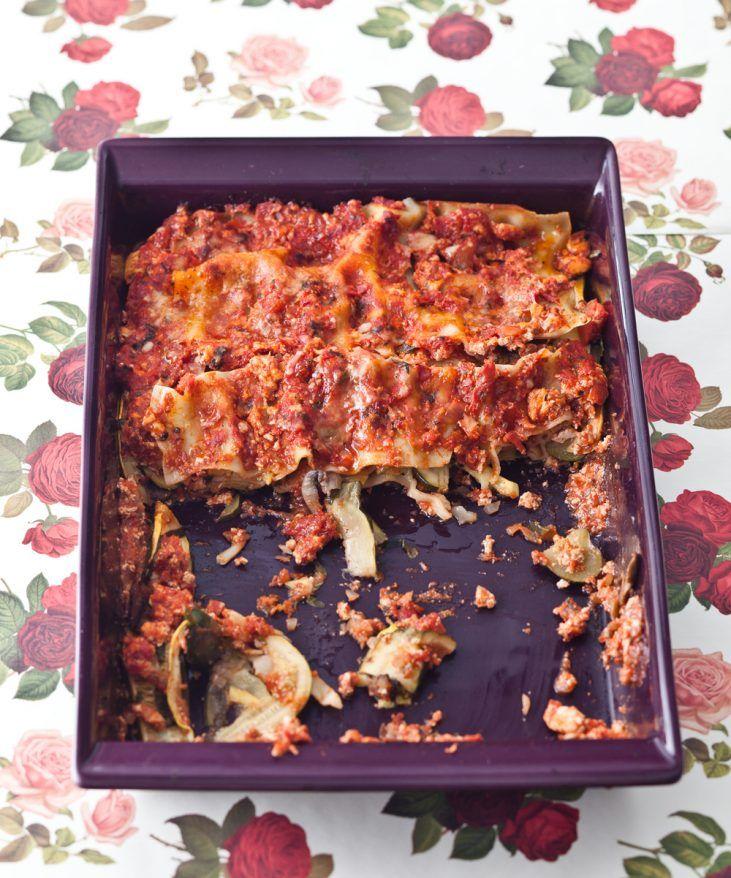 Summer Squash & Mushroom Lasagna - Candice Kumai