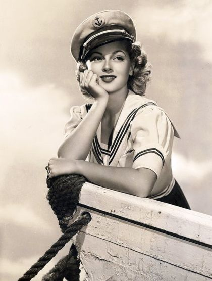 Hello Sailor! Lana Turner in a cute nautical portrait