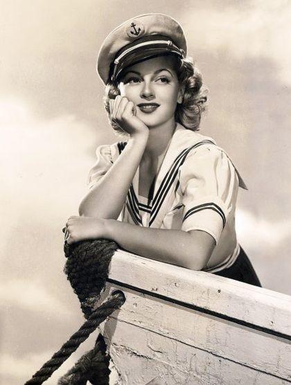 Hello Sailor! Lana Turner in a cute nautical portrait