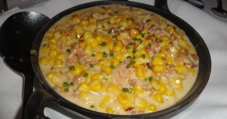 CREAMED CORN  with SMOKED BACON The Capital Grille Restaurant Copycat Recipe 2 slices thick bacon, cooked and chopped 1 tablespoon ...