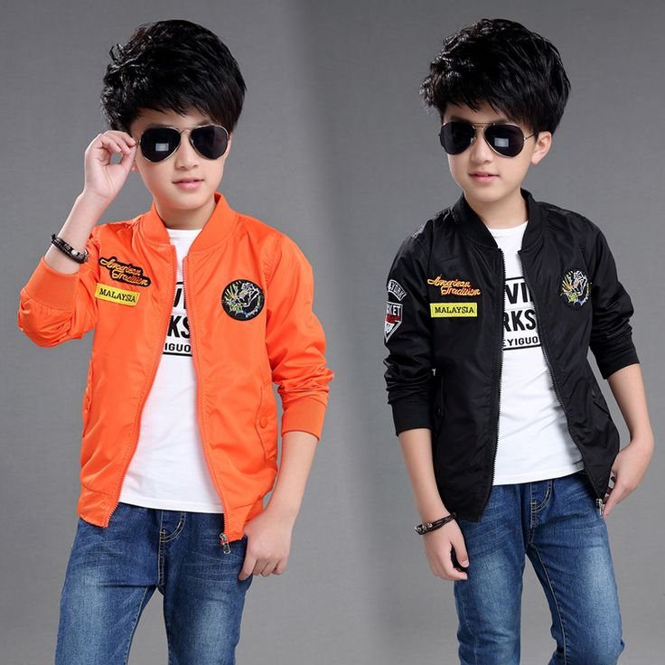 Autumn New Kids Clothes Boys Bomber Jackets Boy Fall Coat Baby Outerwear Children Cardigan Leisure Coat Baby Boy Coat
