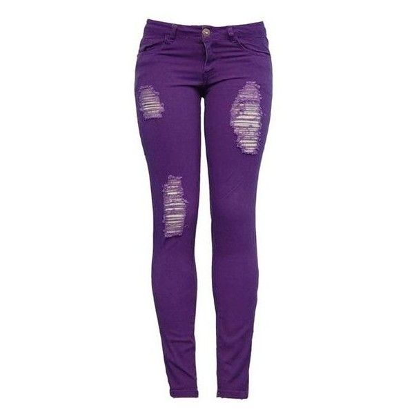 25  best ideas about Purple Skinny Jeans on Pinterest | Neon jeans ...