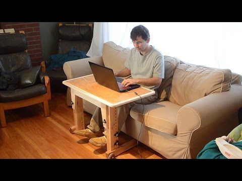 Knock-down laptop table for couch / standup desk - YouTube