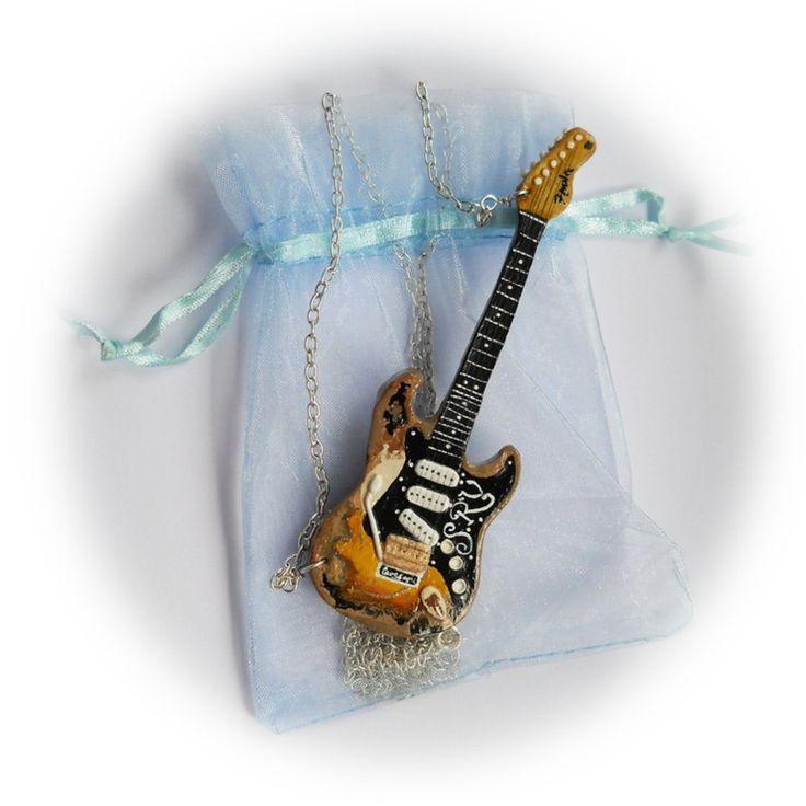 Polymer clay SRV guitar by GemDeDude on DeviantArt