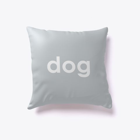 Dog And Cat Reversible Pillow Light Grey. Dog lover? Cat lover? Evenly split household? Now you can show your love for both with our reversible dog-cat pillow. Just turn it over to impress guests who love one over the other. Buy one today!