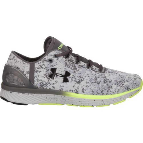 Under Armour Men's Charged Bandit 3 Digi Running Shoes (Grey/Bright Green, Size 9.5) - Men's Running Shoes at Academy Sports