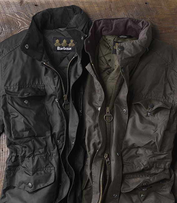 "A multifeatured army-style jacket built in medium weight 6-oz. Sylkoil waxed cotton. Polyester insulation for warmth. Two-way front zip with studded front flap. Corduroy inner collar and cuffs. Stowaway hood in the collar. Four patch flap pockets on the front and an inner zip pocket. Inner-waist drawcord. Specially treated 100% cotton shell. Cold sponge. No soap. Imported. <br />Sizes: S(34-36), M(38-40), L(42-44), XL(46-48), XXL(50-52); about 32½"" long in size large..."