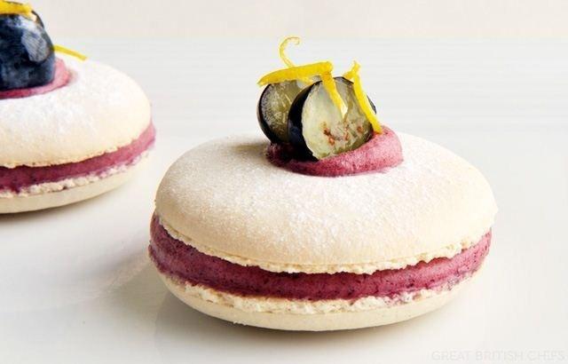 Blueberry & Lemon Macaroons Recipe