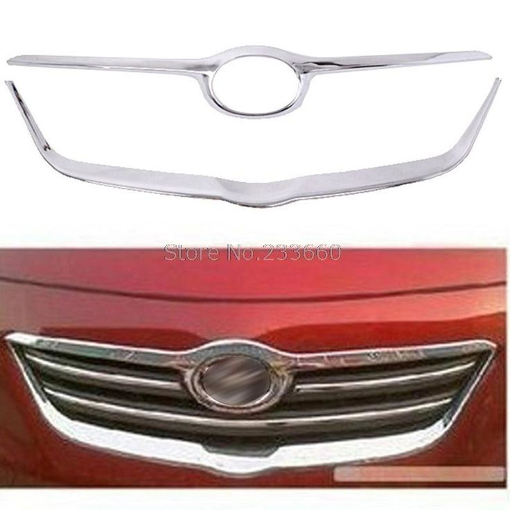 58.64$  Watch here - http://aliaxz.shopchina.info/go.php?t=32731683848 - Fit For Toyota Corolla 2007-2010 Front Grille Trim ABS Chrome Plastic Racing Grills Around Logo Accessories 2pcs/set  #buyonline