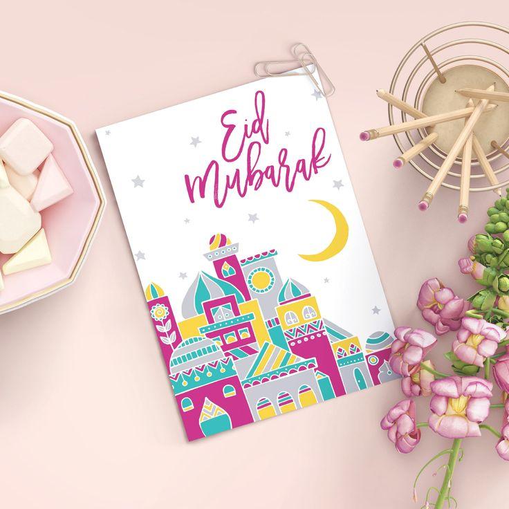 Eid Greeting Card | Muslim Holiday Card
