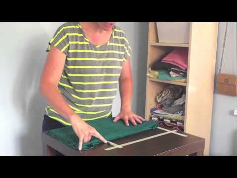 How to fold and organize fabric like a pro - YouTube