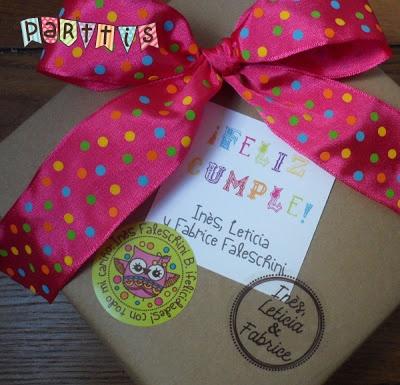 PARTTIS: Personaliza tus regalos con unos lindos stickers