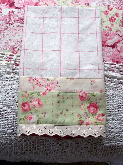 I want this towel Luxury Guest tea towel for Shabby Chic kitchen. by Decorative Towels - Created by Cath., via Flickr