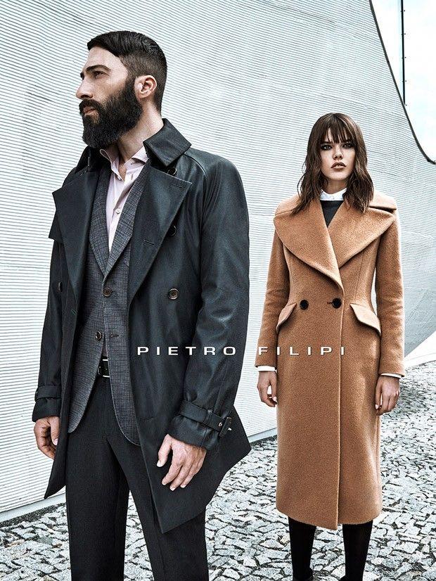 Sasha Marini for Pietro Filipi Fall Winter 2015