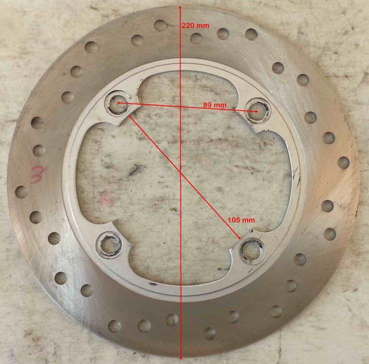 DISCO FRENO D.est.220 D.int.105 sp.4 mm distanza viti 89 mm HONDA sh