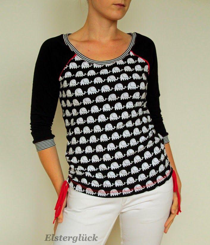 Elsterglück: RAFFINESSA Raglan-Shirt in schwarz-weiß... I´m in ...