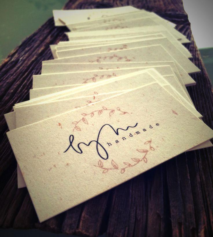 business cards, handmade